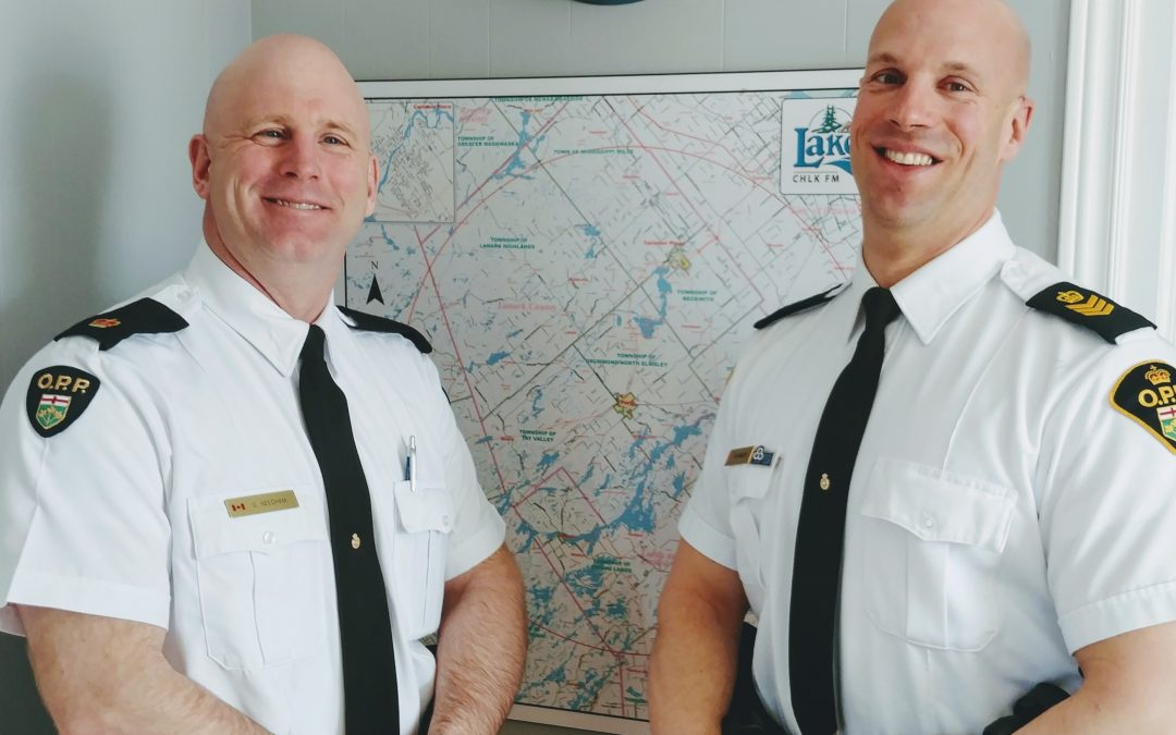 In Focus – Tues Feb 26, 2019 – OPP Inspector Derek Needham, Detachment Commander and Marc Hemmerick, Staff Sgt.