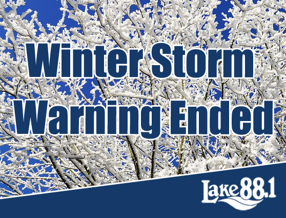 Winter Storm Warning Ended