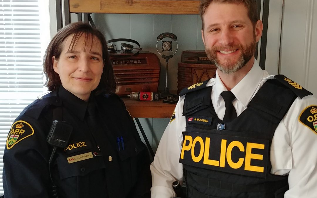In Focus – Tues Jan 28, 2020 – OPP Constable Lori Lobinowich and Staff Seargent Marty McConnell