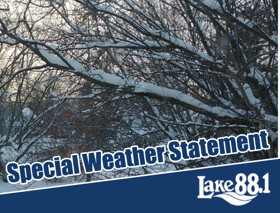 Friday, January 17th, 7:45AM: Special Weather Statement says snowy Saturday lies ahead