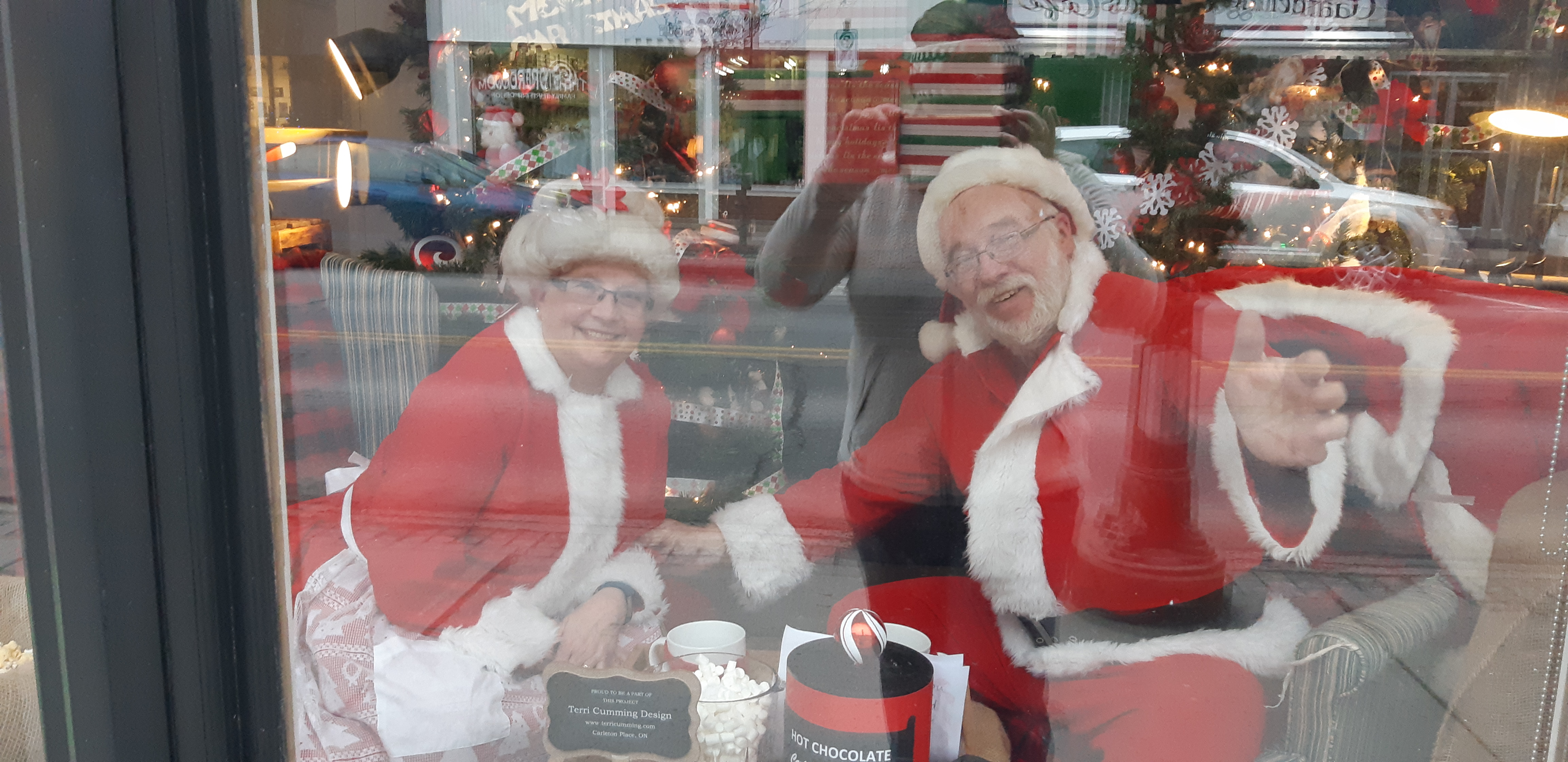 Drop by and say 'hi' to Santa and Mrs. Claus in Carleton Place