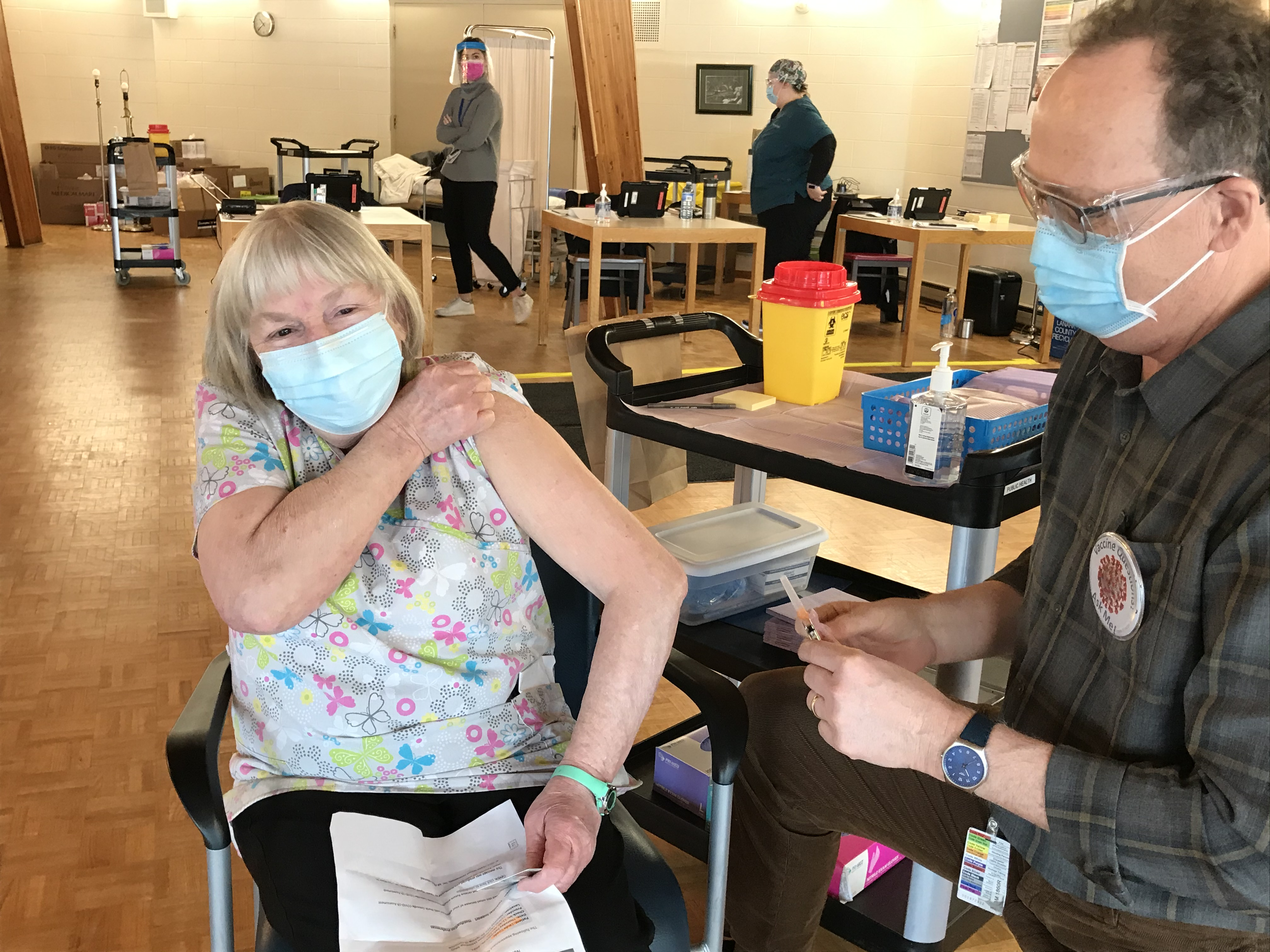 AGH, Fairview Manor & CPDMH front line workers begin to receive COVID-19 vaccine